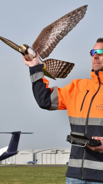 Drones for bird hazard control at...