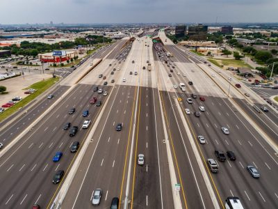LBJ highway in Texas the United States