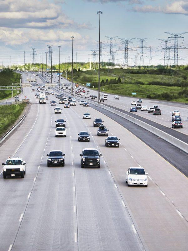 autopista en Canadá 407 ETR en Toronto