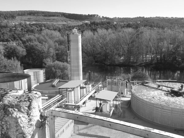 Industrial wastewater treatment plant in Sarria de Ter