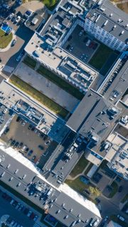 urban infrastructures aerial photo