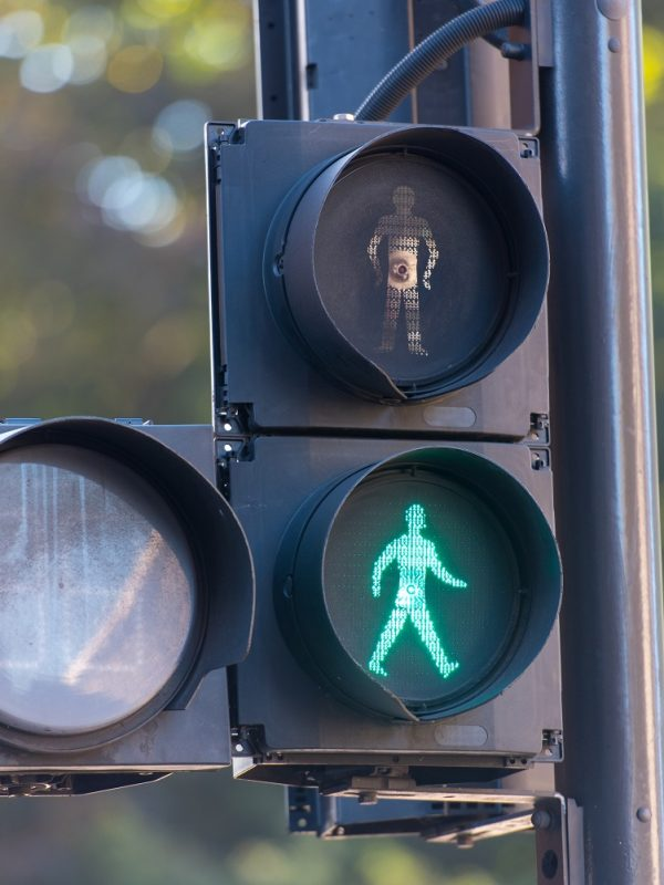 traffic lights in green