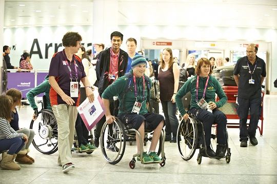 Paralympic Arrivals