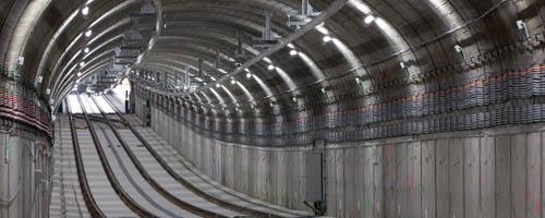 Construction Line9 Metro Tunnel Madrid