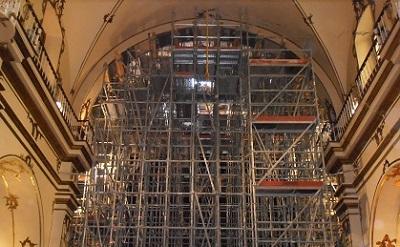 Apeo de los 4 arcos torales principales que rodean la cúpula
