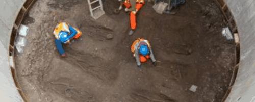 Hallazgo de un cementerio histórico en el proyecto Crossrail