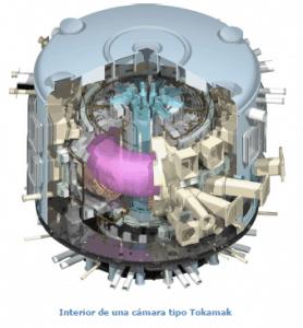 Interior camara Tokomak ITER