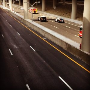 Video of the opening on the USA's LBJ Express Highway in Texas by @devilz_own