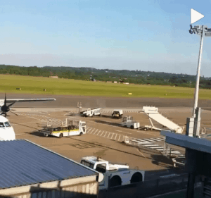 @simonslatter took this photo from the runway at Southampton Airport