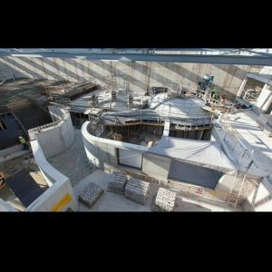 View of the construction of the Biodome in the Science Park Museum in Granada by @elfumito