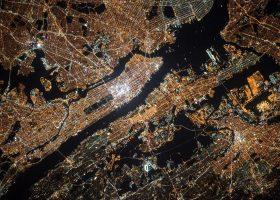 ciudad vistas desde la NASA