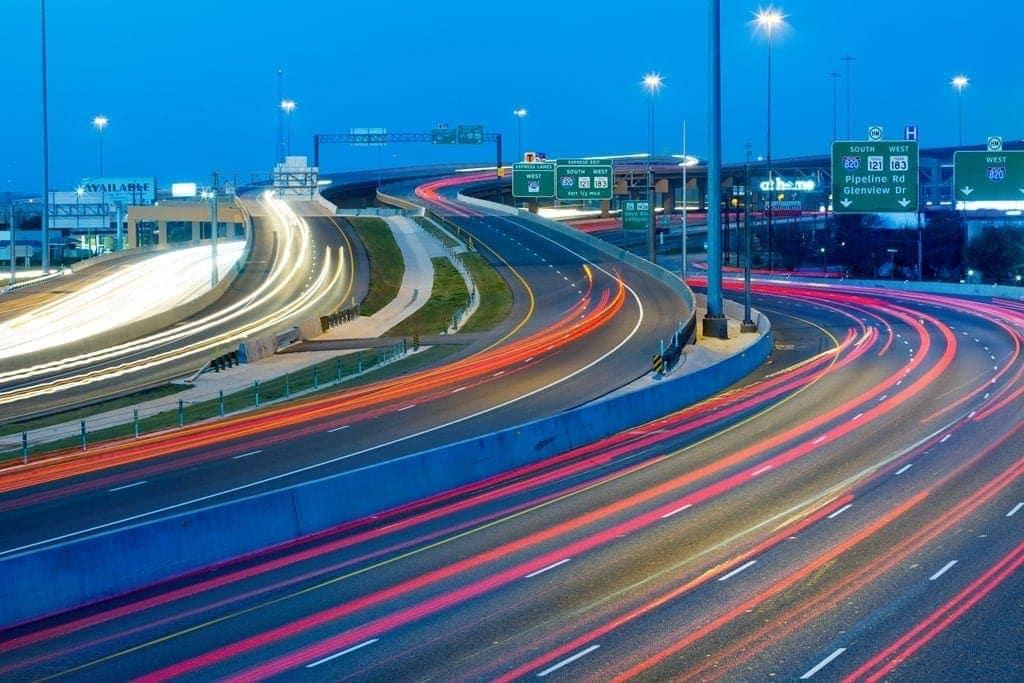 vista autopista north tarrant express en Texas por Ferrovial