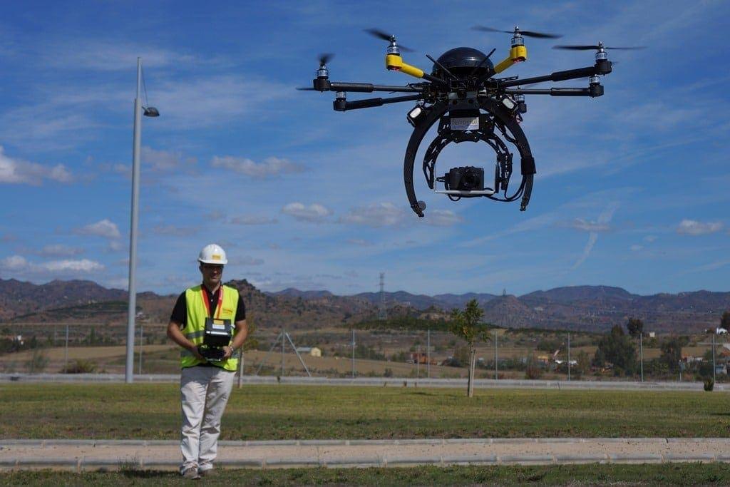 drones en la construción en ferrovial piloto jose luis sanchez vargas