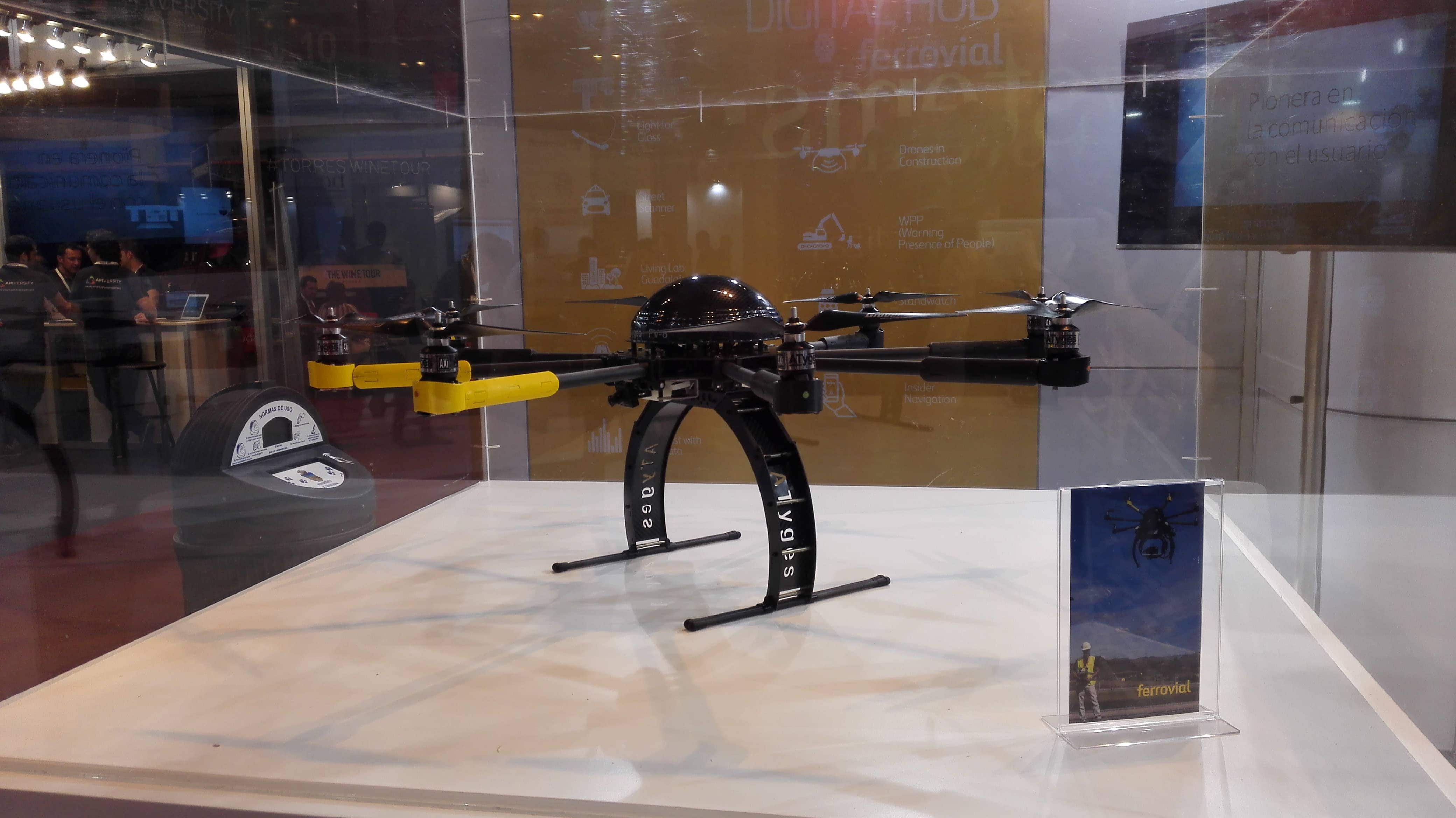 Drones used in construction at Ferrovial Agroman