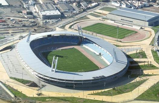 Mediterranean Stadium in Almeria