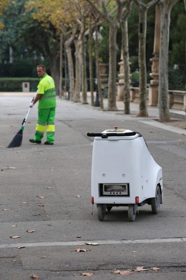 robot de limpieza barrendero ciudades