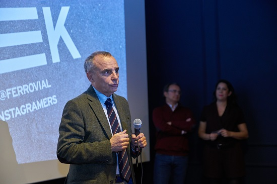 Francisco Polo speaking at Urbanpeek competition