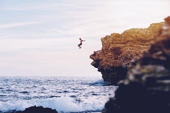 Professional development-cliff-jump