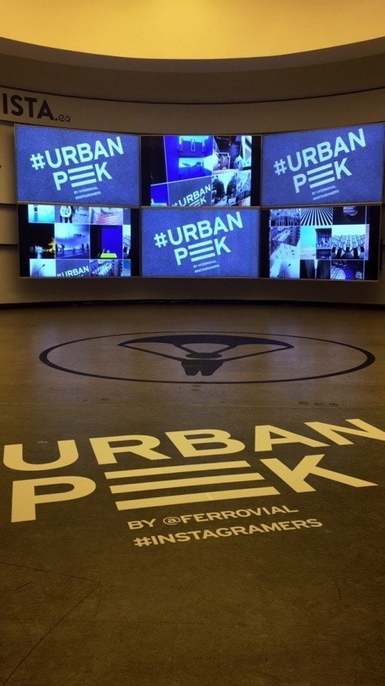 Entrance of UrbanPeek exhibition