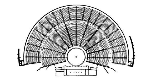Plan del teatro epidaurus