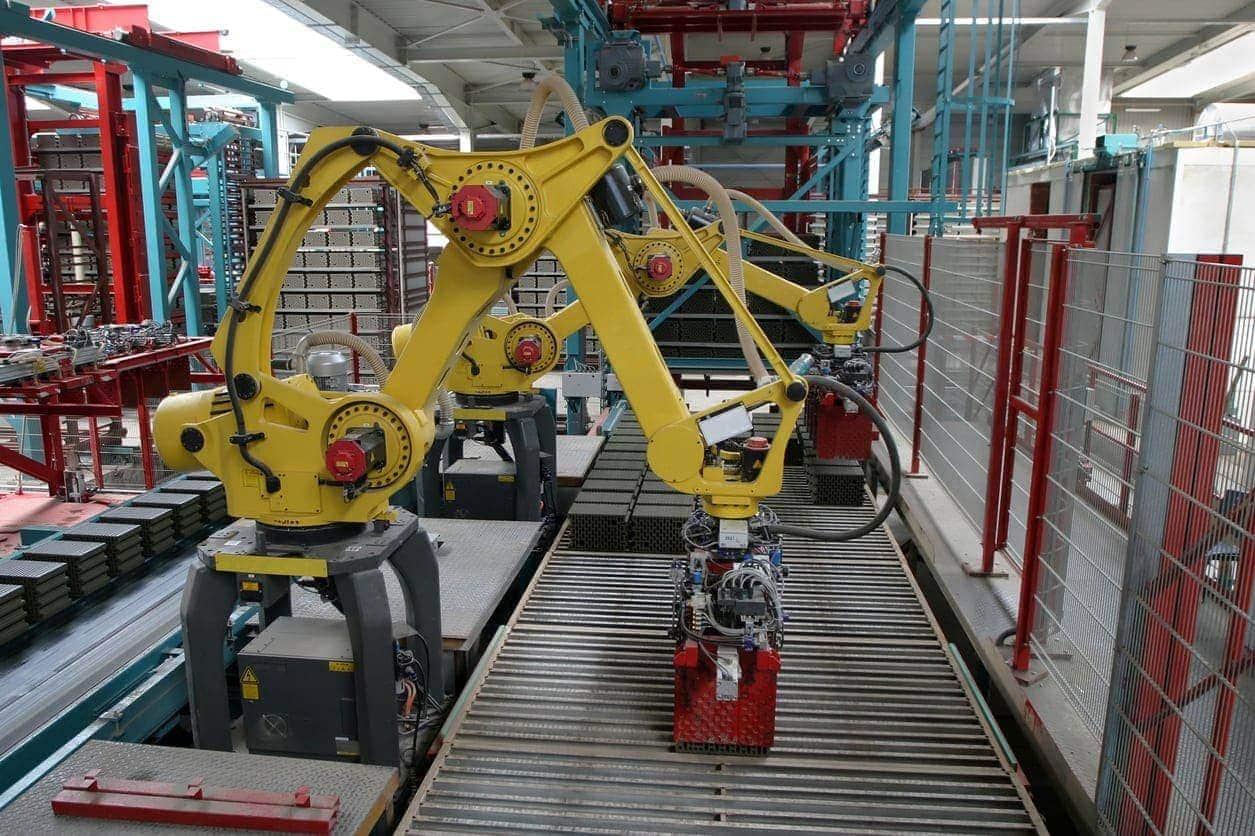 Un robot industrial