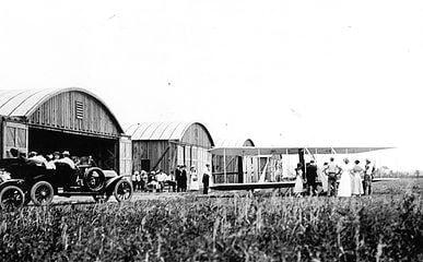 Hangars and ramp airport