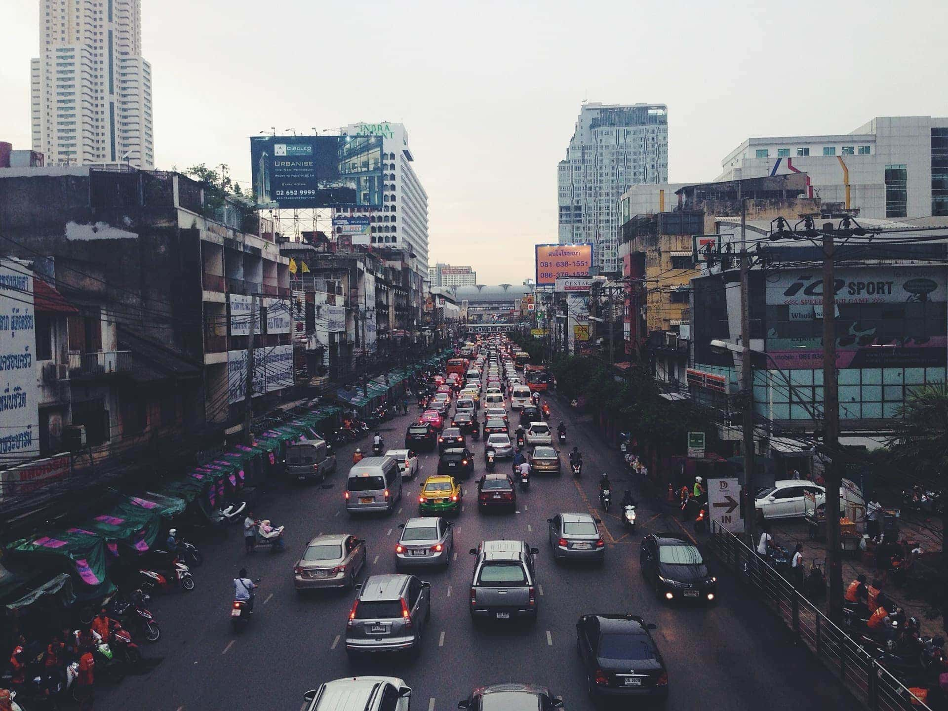Pollution control traffic asian city
