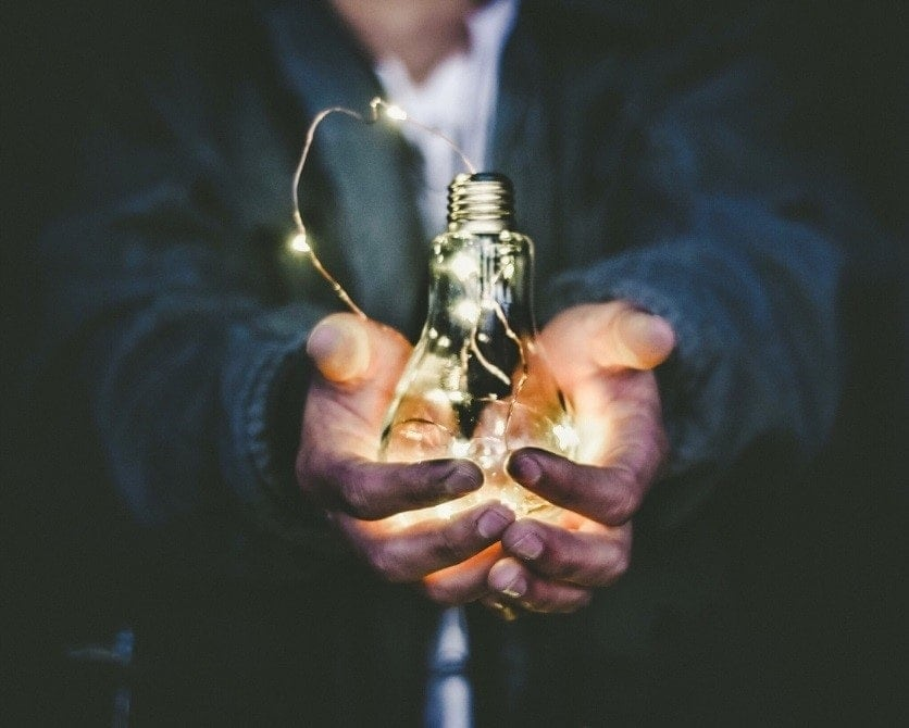 Energy sustainability light bulb