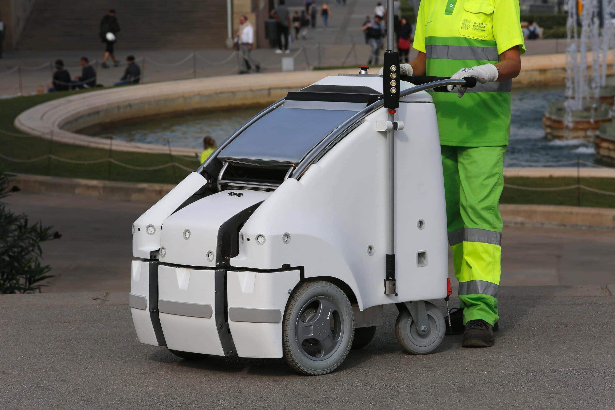 innovacion robot barrendero fuente de montjuic