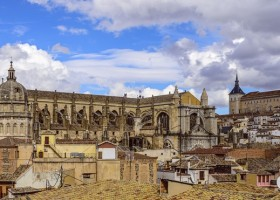 medieval cities toledo Cathedral and Alcazar