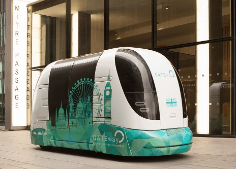 proyecto gateway vehiculos autónomos pod en londres
