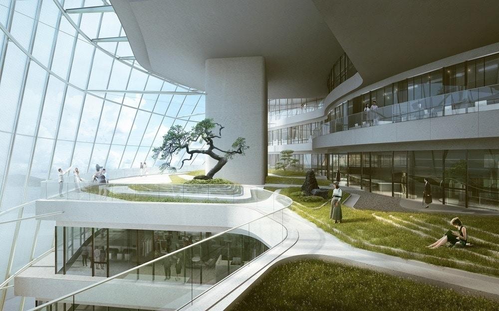 oficina verde sostenible en china