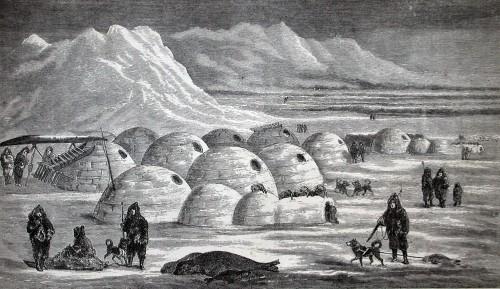 arquitectura tradicional poblado inuit