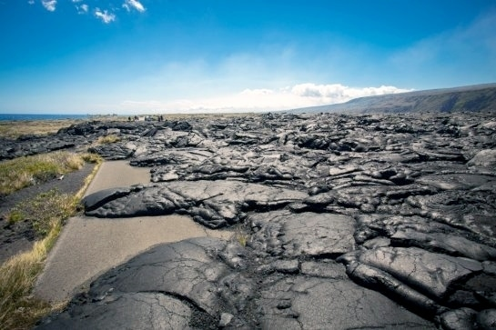 hawaiian volcanoes chain road
