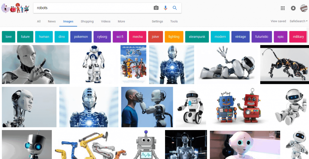 robots google images screenshot