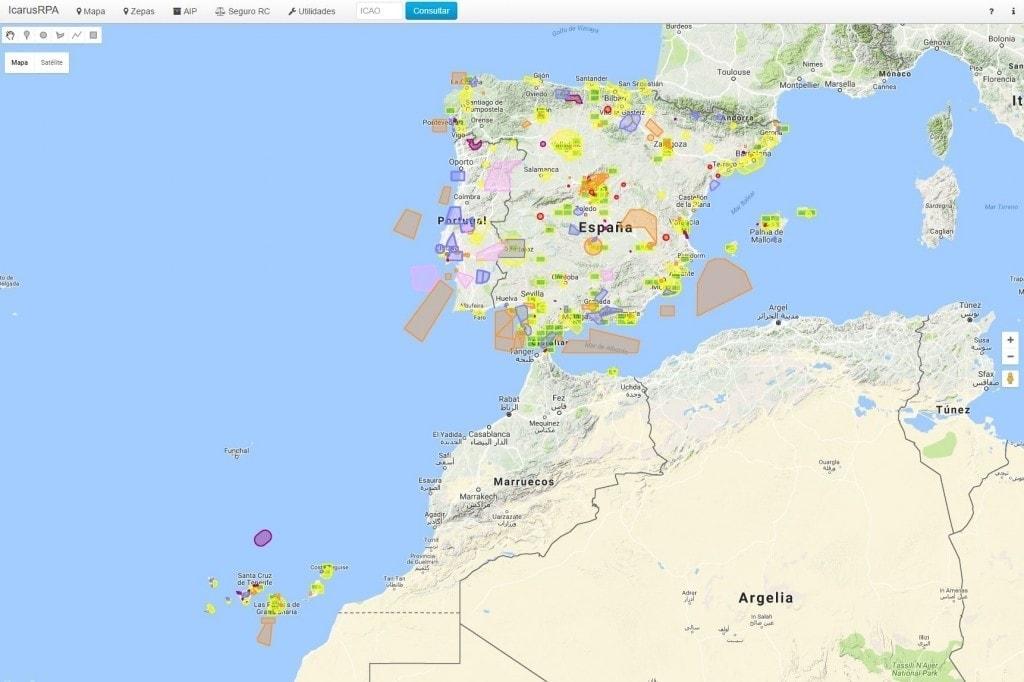 mapa españa icarusrpa avistamiento drones