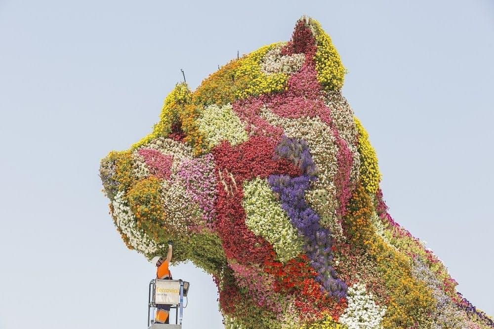 puppy perro de flores museo guggenheim bilbao