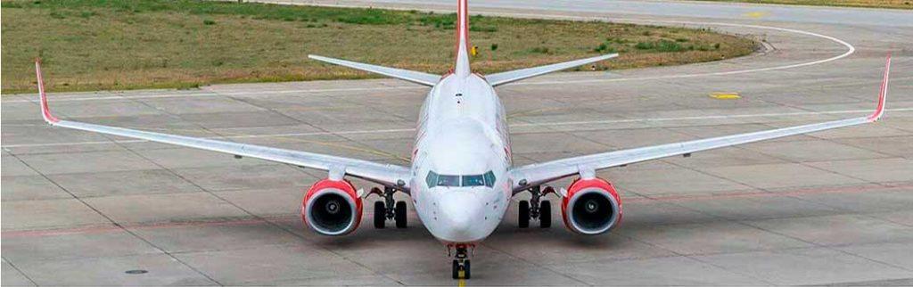 Plane on a curve landing track