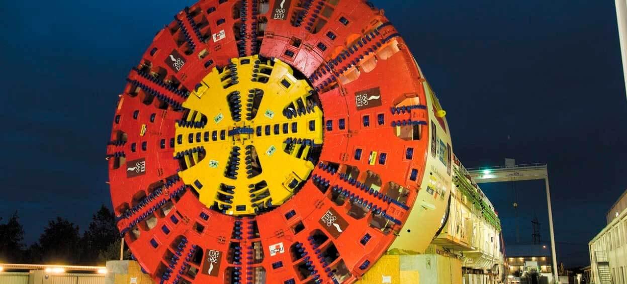 Tuneladora Dulcinea, una de las más grandes del mundo