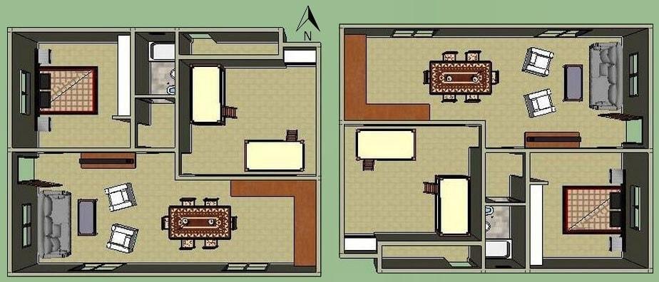 flat housing orientation