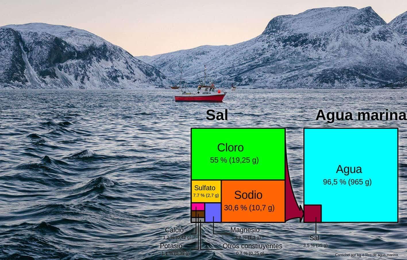 Salt ratio in the ocean