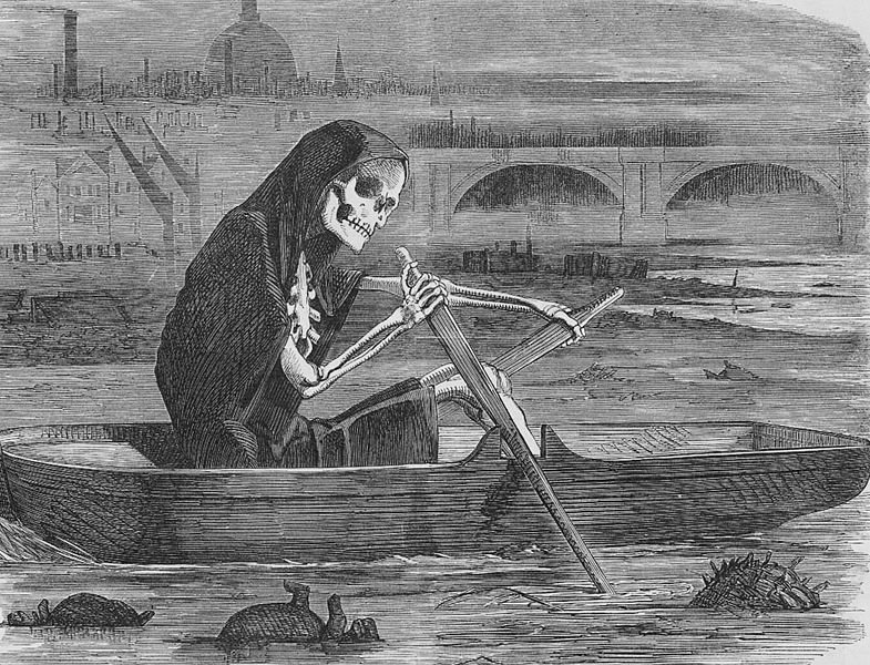 Cleaning campaign of the Thames in 1858