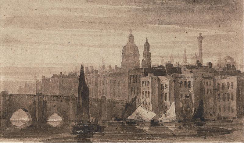 The old bridge of London