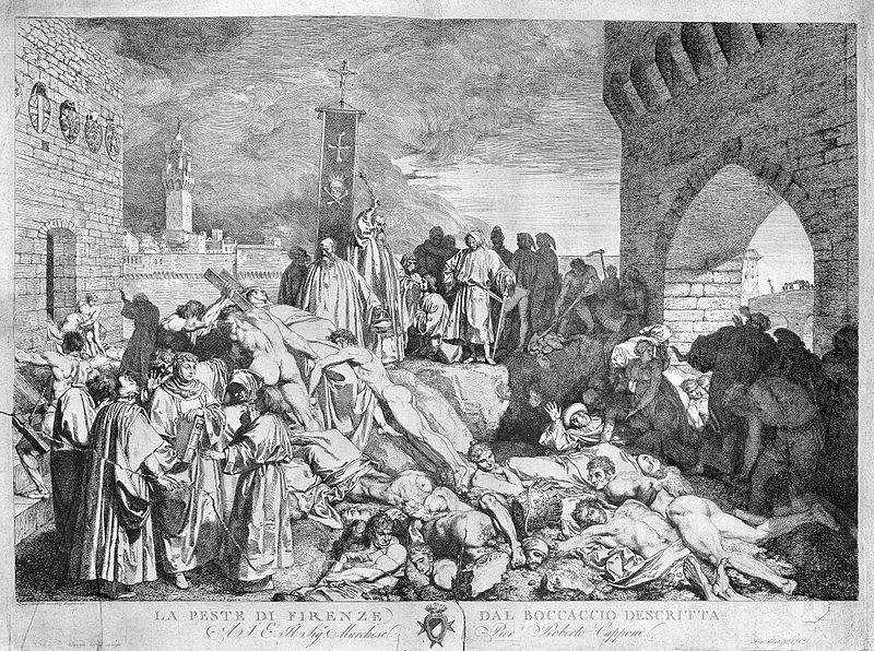 Black plague in Florence