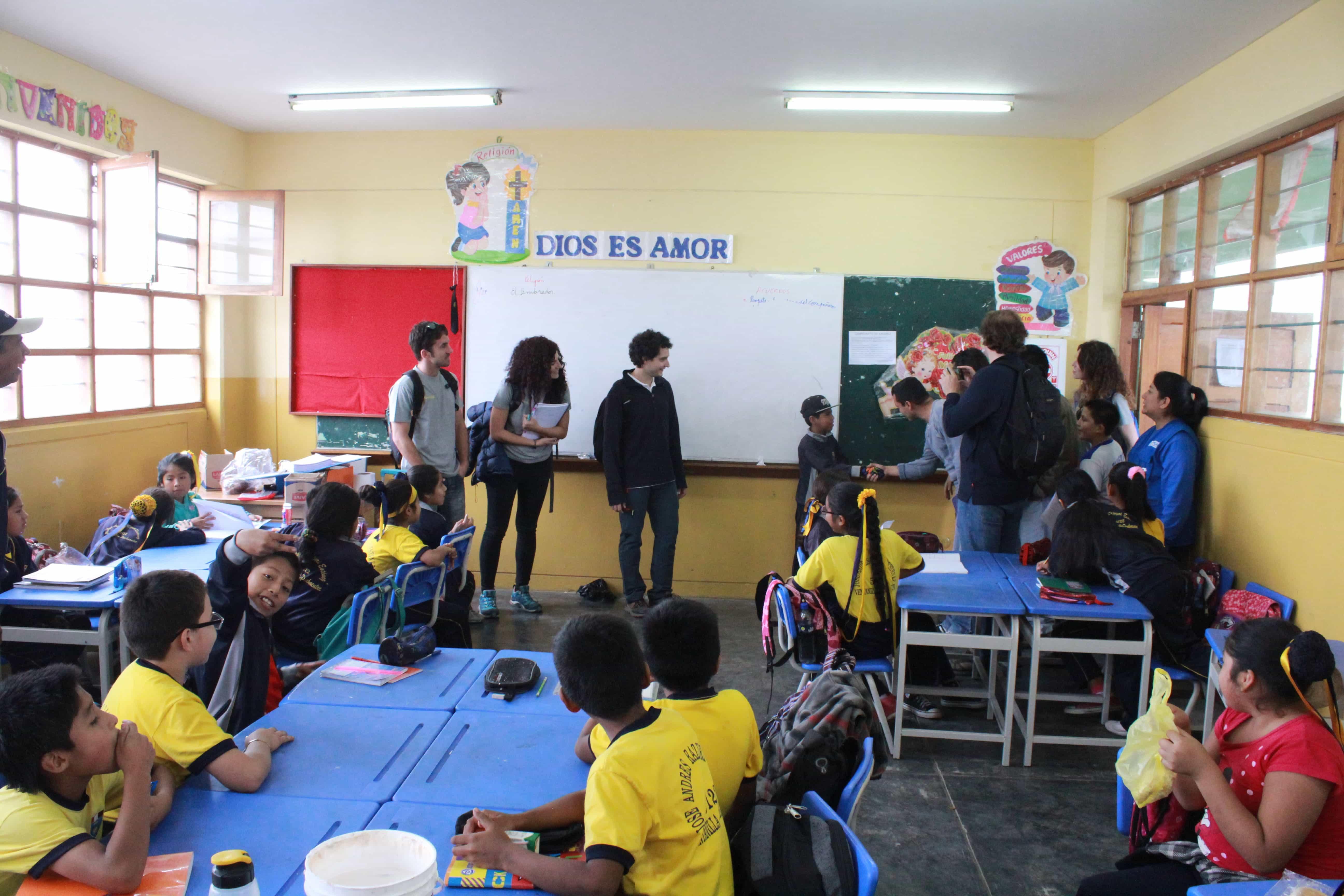 Una de las escuelas de Ventanillas