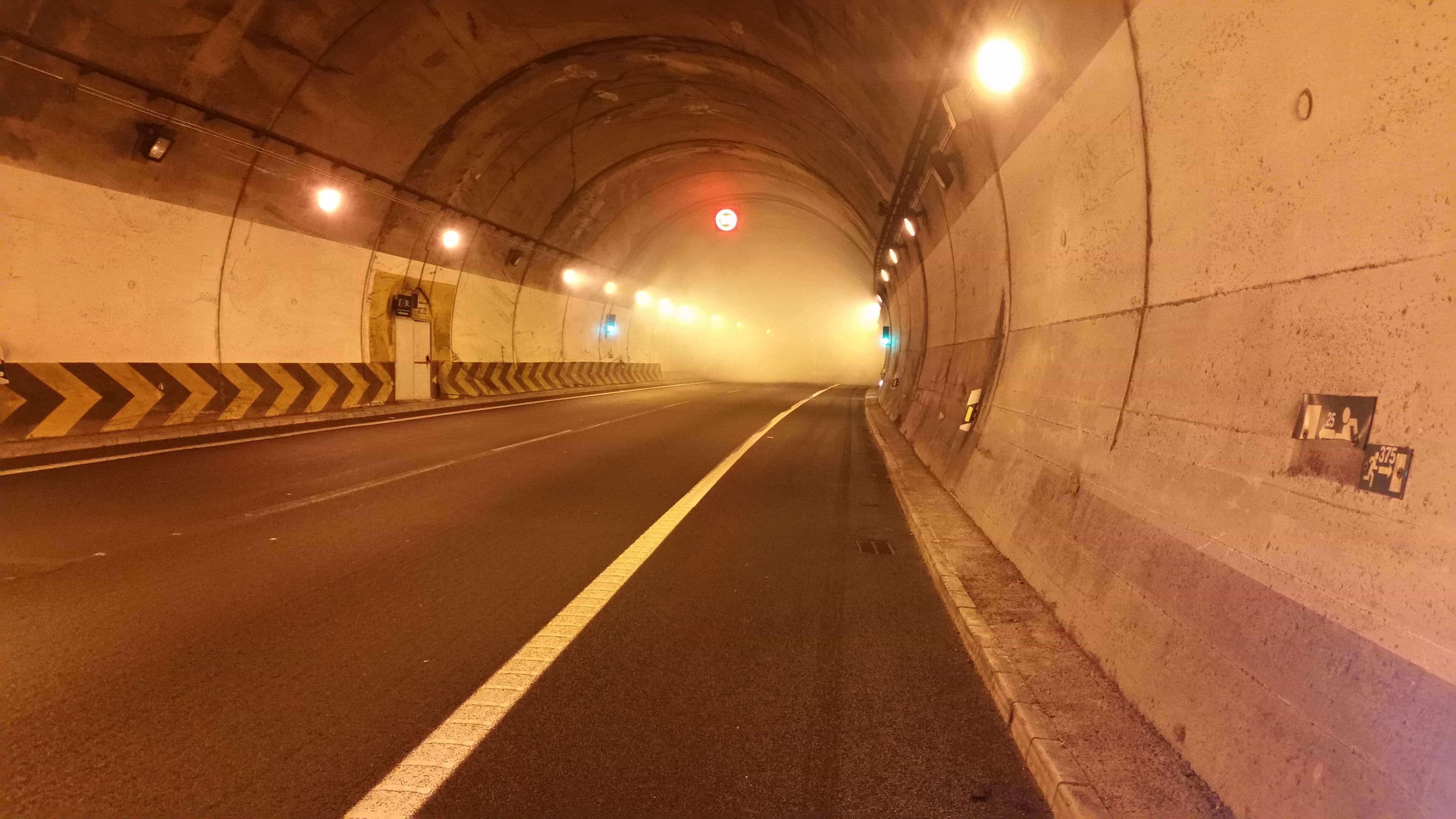Accidente en túnel