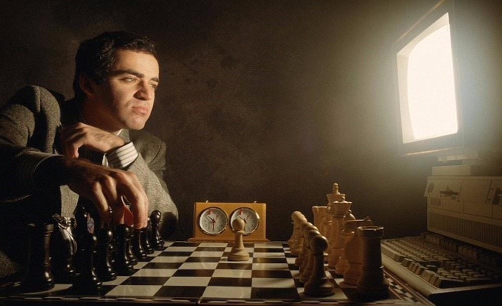 Kasparov contra un ordenador