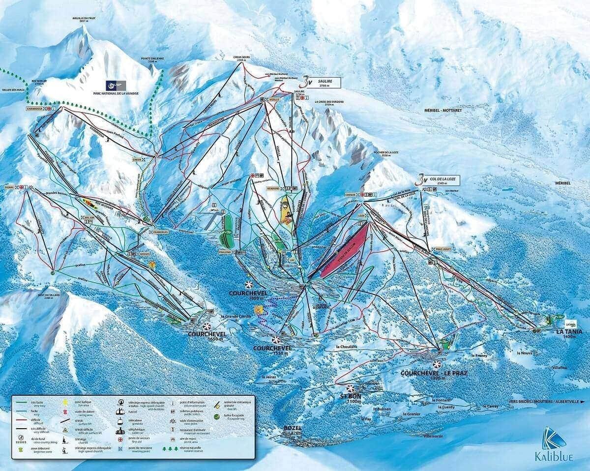 Pistas esqui Courchevel