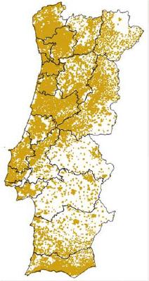 mapa luces Portugal