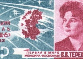 Seal of the Soviet Union with the face of Valentina Vladimirovna Tereshkova, 1963